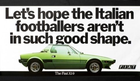 Fiat ad from 1978, by Tony Brignull