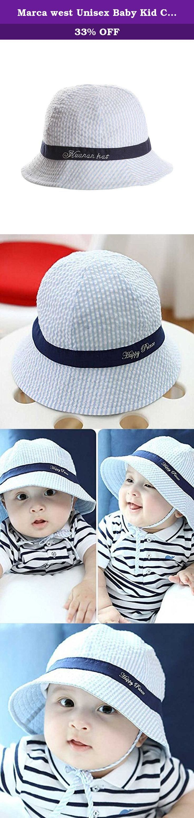 Marca west Unisex Baby Kid Child Toddler Boy Girl Infant Sun Protection Bucket Cap Hat. Warm tips 1.There are slight difference between the picture and the real item caused by light brightness 2.The hat is suitable for infant and maybe its size is a little small,so please refer to the size recommended before purchasing. Service: 1.If you are not satisfied with our product or order wrong item,let us know at the first time,we must reply you in 24 hours. 2.If we make a mistake,we promise to...
