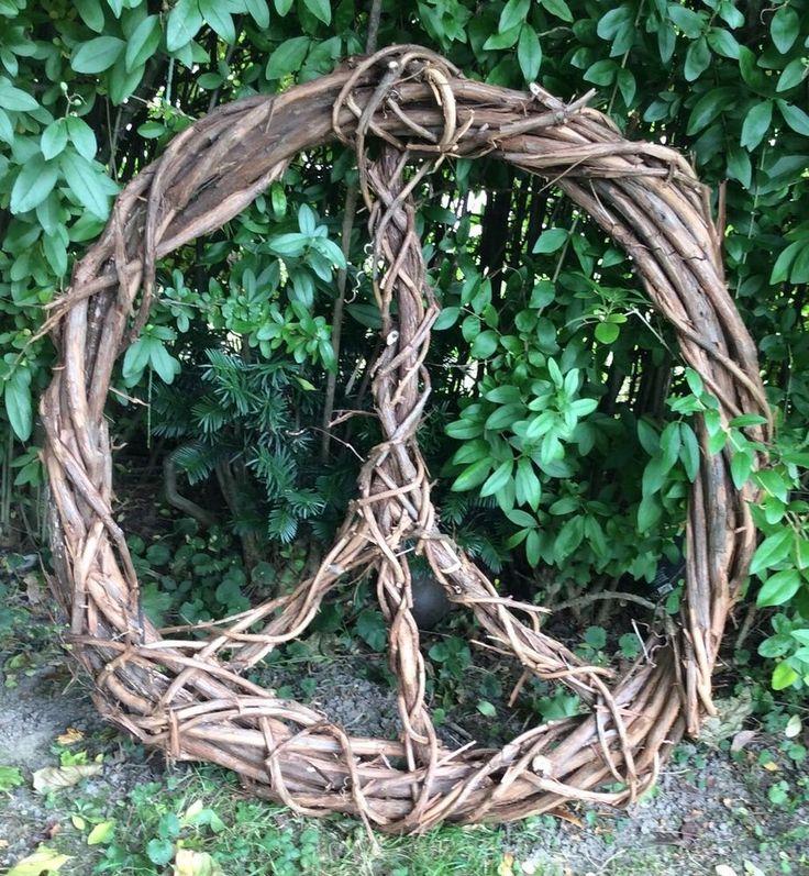Wild Grape Vine Handwoven Peace Sign Wreath 32 Quot Vines