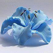 Купить или заказать цветок лилии для украшения прически (зажим для волос) в интернет-магазине на Ярмарке Мастеров. лилия ручной работы, слеплена из японской полимерной глины))) Яркое, красивое украшение для завершения образа.