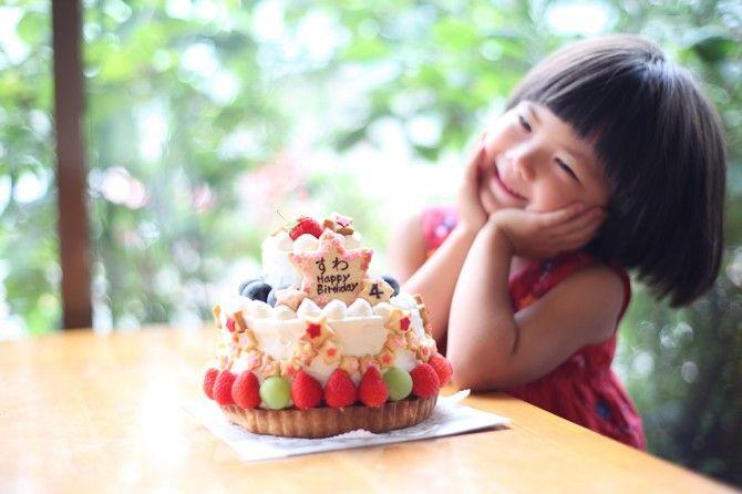 娘すわのお誕生日ケーキ