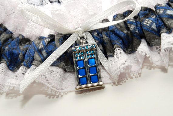 Doctor Who Wedding Garter. If Trevor is a fan of doc who, maybe you need this... It's blue!!