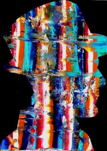 """Saatchi Art Artist Paolo Cervino; Painting, """"poetry on paper- the painter #1""""…"""