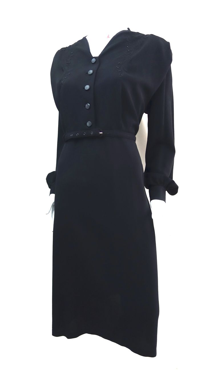 strict governess 1940s dress from thee hub