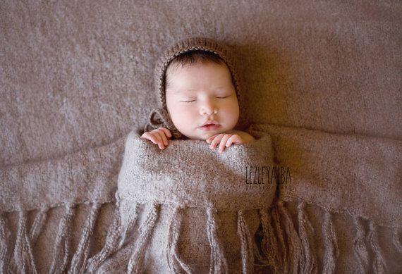Baby Classic Bonnet Newborn Bonnet 03 month 6 by SquishyBabyStuff, $15.00