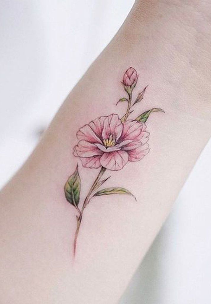 100 Trending Watercolor Flower Tattoo Ideas For Women With