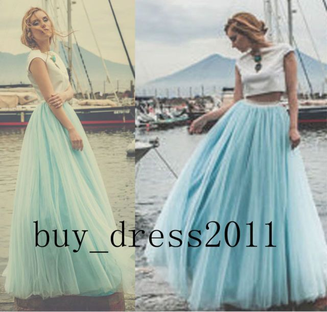 Floor Length Tulle Bridesmaid Skirts Wedding Prom Party Puffy Ball Dance Skirts