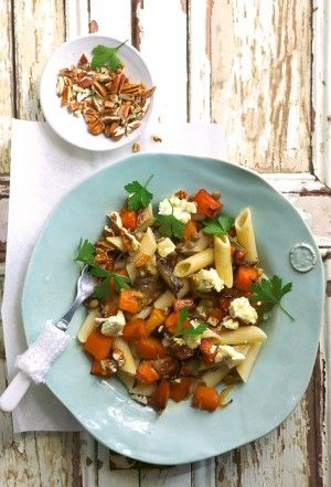 Ginger and Honey Roasted Pumpkin Pasta