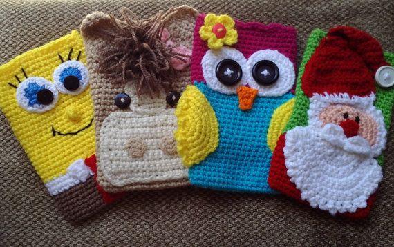 Tablet Case/Cover/Cozy Owl/Pony/Santa or Spongebob by cbbcreations