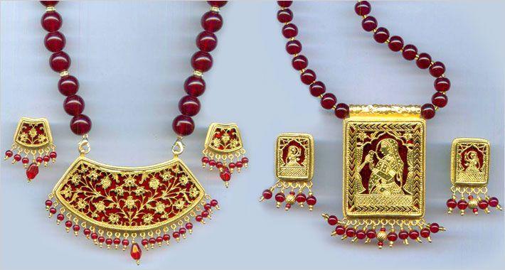Thewa Jewellery,Designer Thewa Pendant Set Exporters Rajasthan
