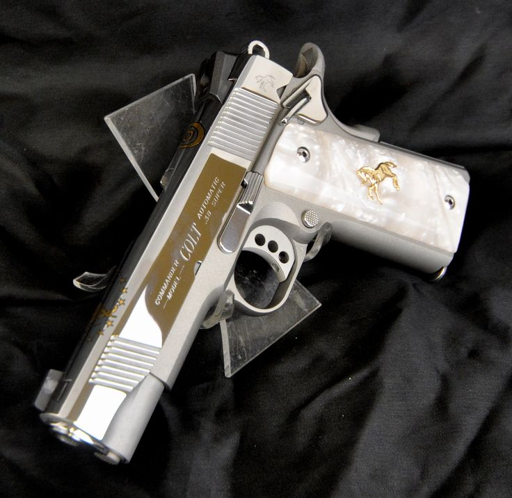 "Colt Lightweight Commander Lew Horton Ltd Ed O4540XSELTD .38 Super. The Colt XSE LTW Commander is a semi-auto 1911 pistol. This example is a Lew Horton Limited Edition, & features a bright polished stainless steel slide, topped w/ a gold Colt logo & gold Rampant Colt; stainless cerakote finished aluminum alloy receiver; polished stainless extended ambi thumb safety, slide lock, & hammer; & aluminum 3-hole trigger. White 3-dot sights. 9+1 capacity of .38 Super. 4.25"" barrel. [New in Box]…"