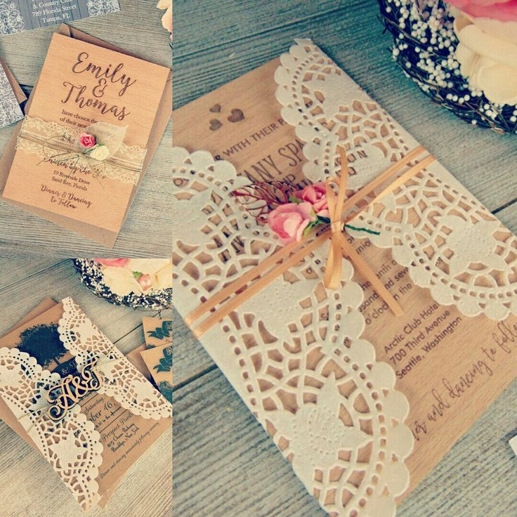 New! Wood & Paper wedding invitations in our shop ☺