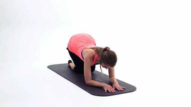 Стройные ноги за 15 минут. Подъём согнутой ноги назад