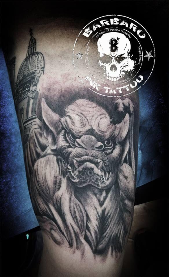 #tattoo #tattooed #tattooist #bestspaintattooartist #sculpturetattoo #blackandgreytattoo #gargoyletattoo