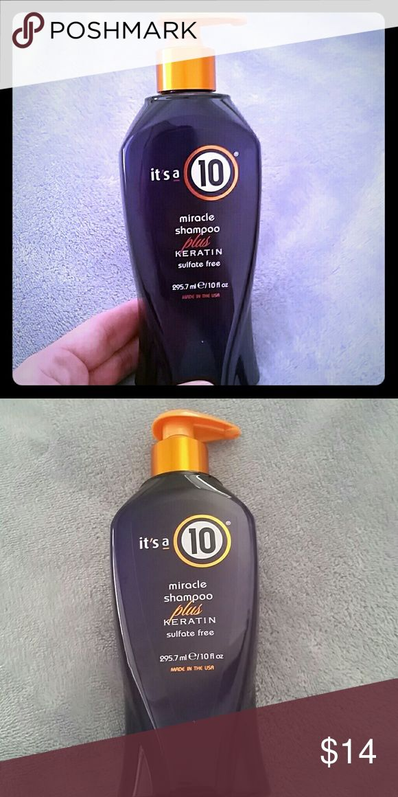 It's a 10 Miracle Shampoo + Keratin It's a 10 Miracle Shampoo Plus Keratin offers sulfate free, sodium chloride free, paraben free, keratin protein infused, prevents breakage, preserves hair color, restores elasticity, protects from sun damage, locks out humidity & protects from thermal styling.               ** Price Firm Unless Bundled!! It's a 10 Makeup