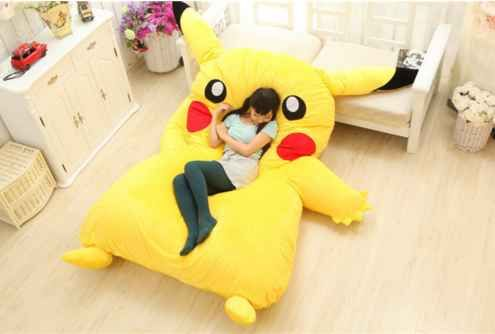 This Pikachu mattress that you'll never want to evolve.                                                                                                                                                     Más
