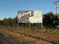 Gilroy, California - Garlic Capital of the World!! Mmmmm...smells good!