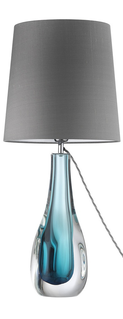 31 Best Images About Blue Glass Lamps On Pinterest