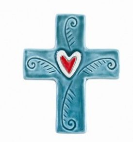 Cross With Ferns Tile