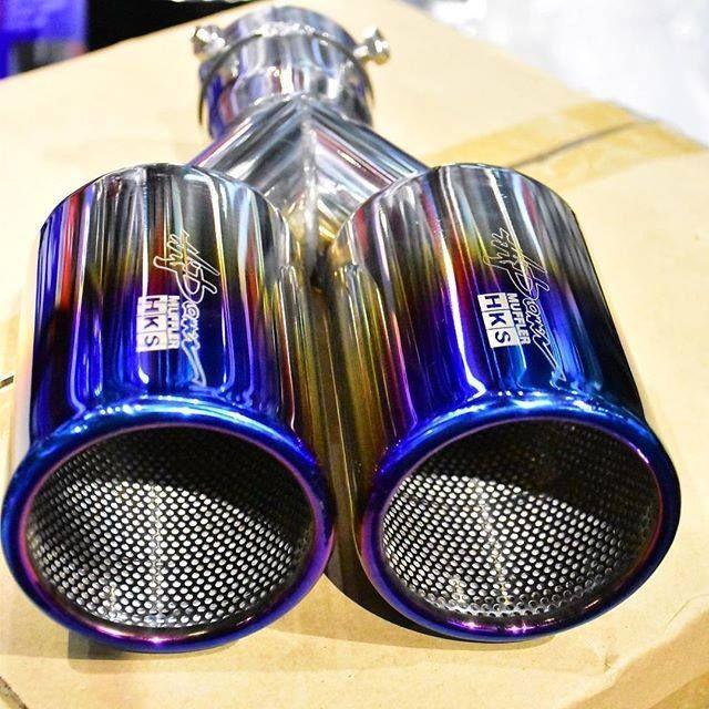 hks titanium exhaust tips motorcycle