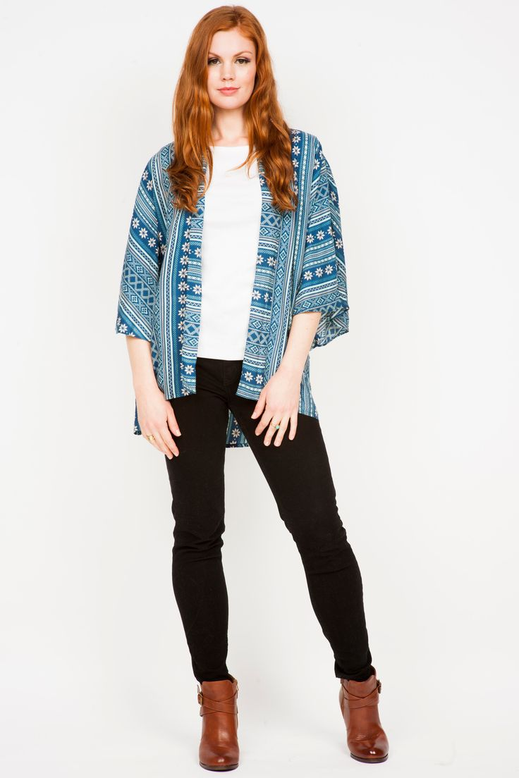 The Keisha Aztec Kimono is perfect for summer day layering!! https://goo.gl/p21mzL
