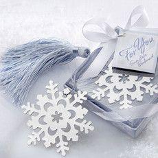 Marque page flocon de neige cadeau hiver