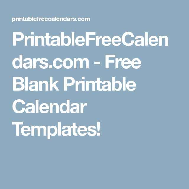 Best 25+ Free blank calendar ideas on Pinterest Blank monthly - perpetual calendar template