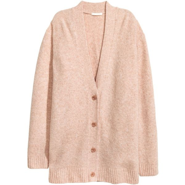 Büyük Beden Hırka 99,99 TL ($40) ❤ liked on Polyvore featuring ribbed cardigan, pink v neck cardigan, ribbed top, low cut tops and v-neck tops