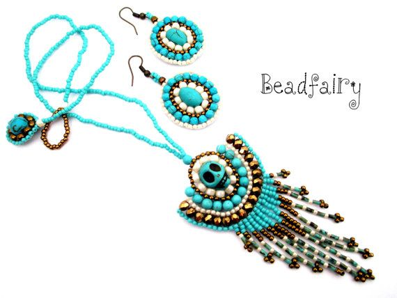 Pirate Mistress Necklace Set by BeadfairyStore on Etsy