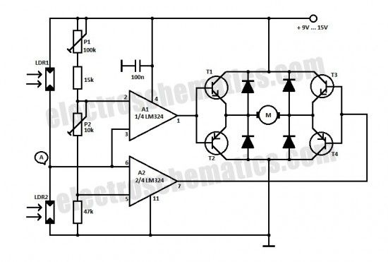 photocell sensor circuit diagram this diy solar tracker system is useful for maintaing the photocell control circuit diagram #5