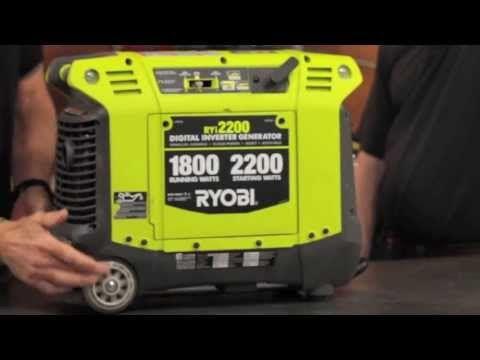 ▶ RYOBI Quiet Portable Generator Inverter RYi2200 Review - $599 - YouTube