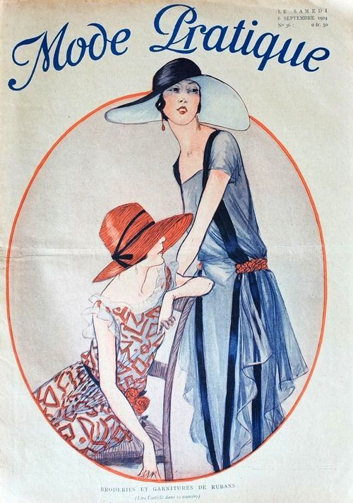 Sydneyflapper@tumblr: Mode Pratique September, 1924 cover.
