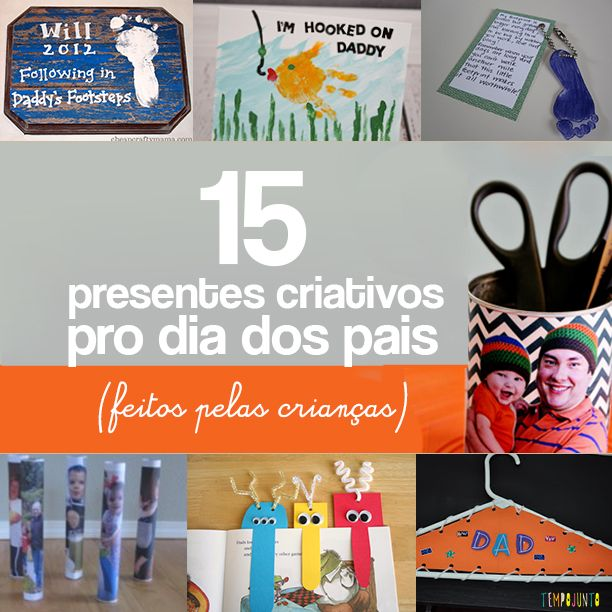 Os papais vão ficar muito felizes se ganharem qualquer uma dessas 15 ideias de presentes feitos pelas crianças para o Dia dos Pais.