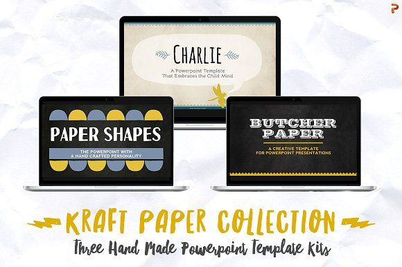 Ad: Kraft Paper Powerpoint Collection - Presentations #powerpoint #presentation #slide $35