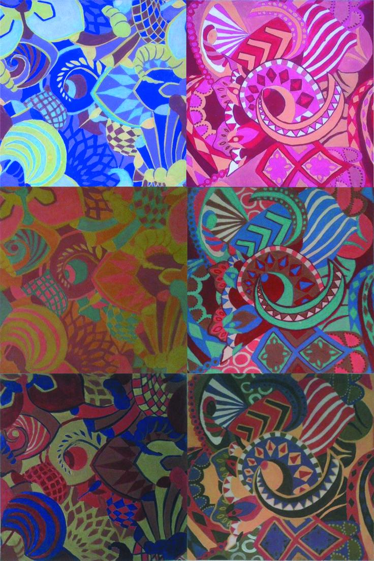 TP 2 Rapport y Estampa - Propuestas de rapport y cambios de color - Arte Huichol