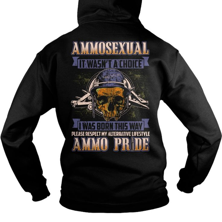 415 ammosexual i was born this way  military - Tshirt