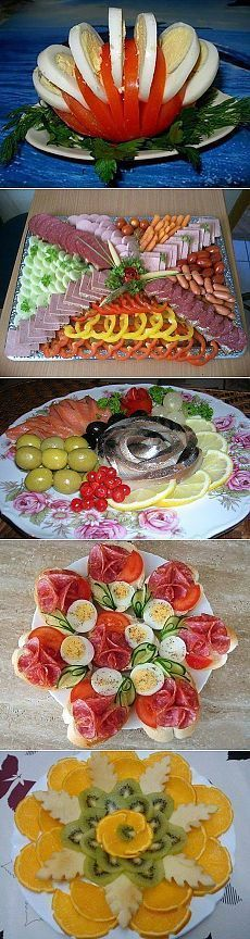красивое оформление блюд