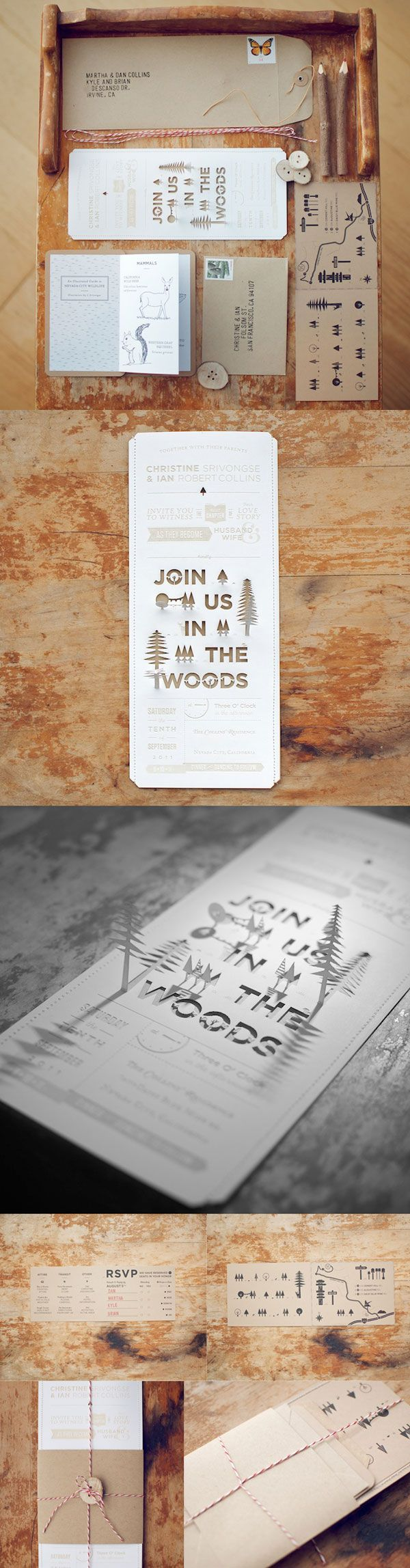 wood cut invitation 178 best Invitation Designs