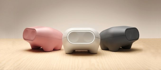Piggy bank designed for your kids room. ERNIT the smart piggy bank will be available in white through Kickstarter and pink and grey will come later.