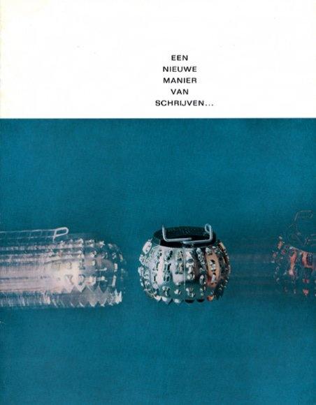 Een nieuwe manier van schrijven ...(A new way of writing ...) brochure, Designed by Wim Crouwel, 1962
