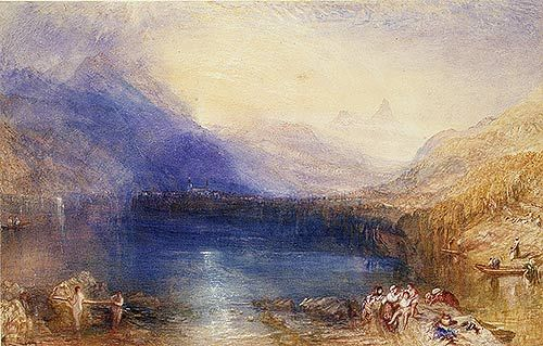 The Lake of Zug, 1843 Joseph Mallord William Turner (British, 1775–1851) Watercolor over graphite