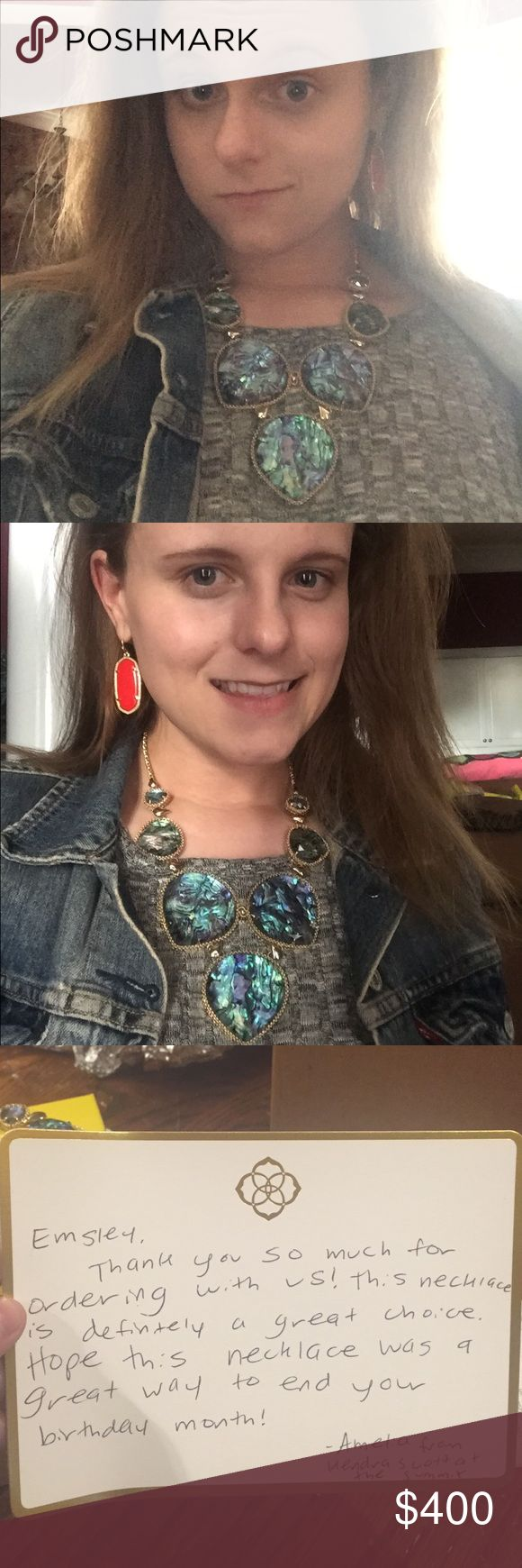 BIRTHDAY 1/2 off :-) I am so thankful for the sweet people at the Kendra Scott summit location in Alabama :-) I LOVE my necklace This is my FIRST statement necklace and I have two Harlows on the way now, Rose quarts and a variegated teal one :) Kendra Scott Jewelry Necklaces