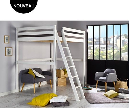 les 25 meilleures id es concernant lit mezzanine 140 sur pinterest lit mezzanine 140x200. Black Bedroom Furniture Sets. Home Design Ideas