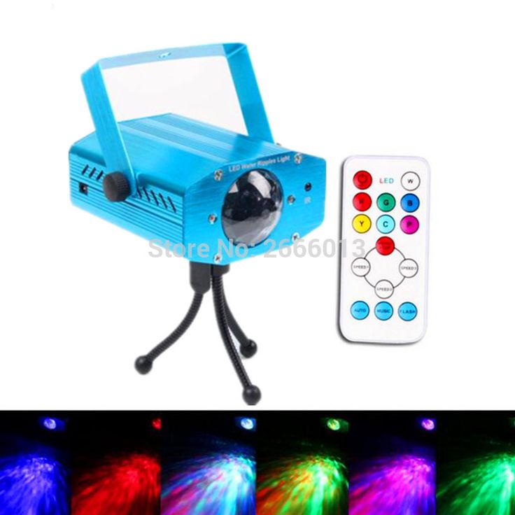 Niugul New Arrival Remote 7 colours LED Water Wave Ripple Effect Stage Light Lamp Music Auto home Party DJ background Projector #Affiliate