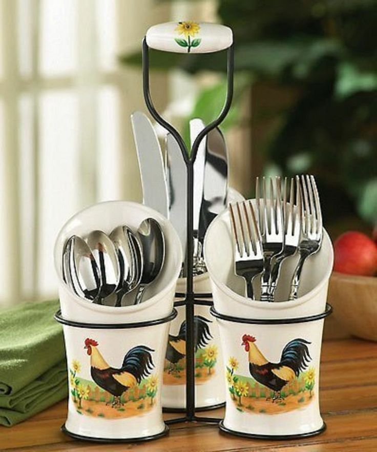 country rooster kitchen decor. Country Rooster Kitchen Flatware Utensil Holder Sunflower  Decor Best 25 kitchen decor ideas on Pinterest