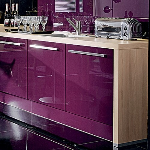 17 Best Ideas About Purple Kitchen Cabinets On Pinterest