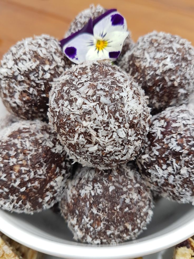 Delicious Paleo protein balls, no fillers just nuts, seeds, dried fruits and coconut