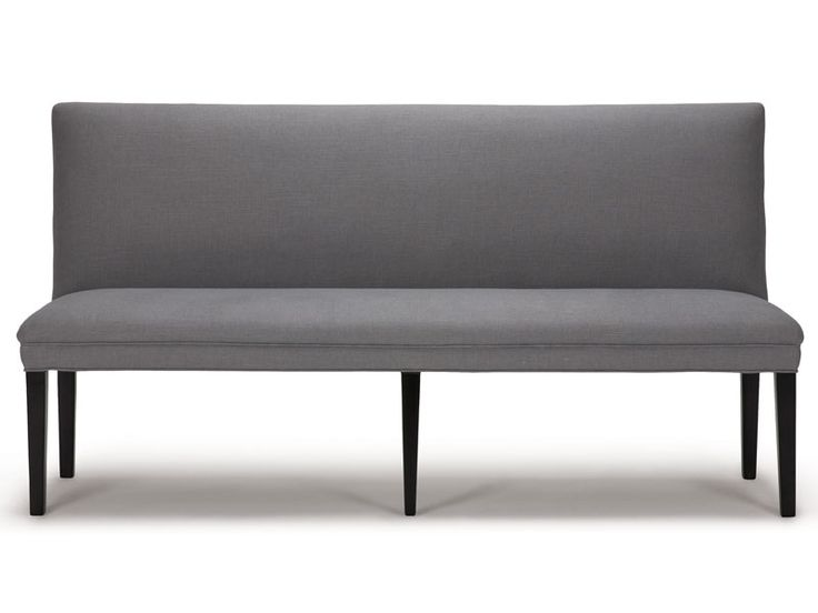 Sleek and elegant with tight back and seat and tapered legs, the Bronwyn Banquette is very versatile.  Used as a bench with a dining table or in a hallway or bedroom or living room, it easily provides additional seating with style. Bronwyn Banquette