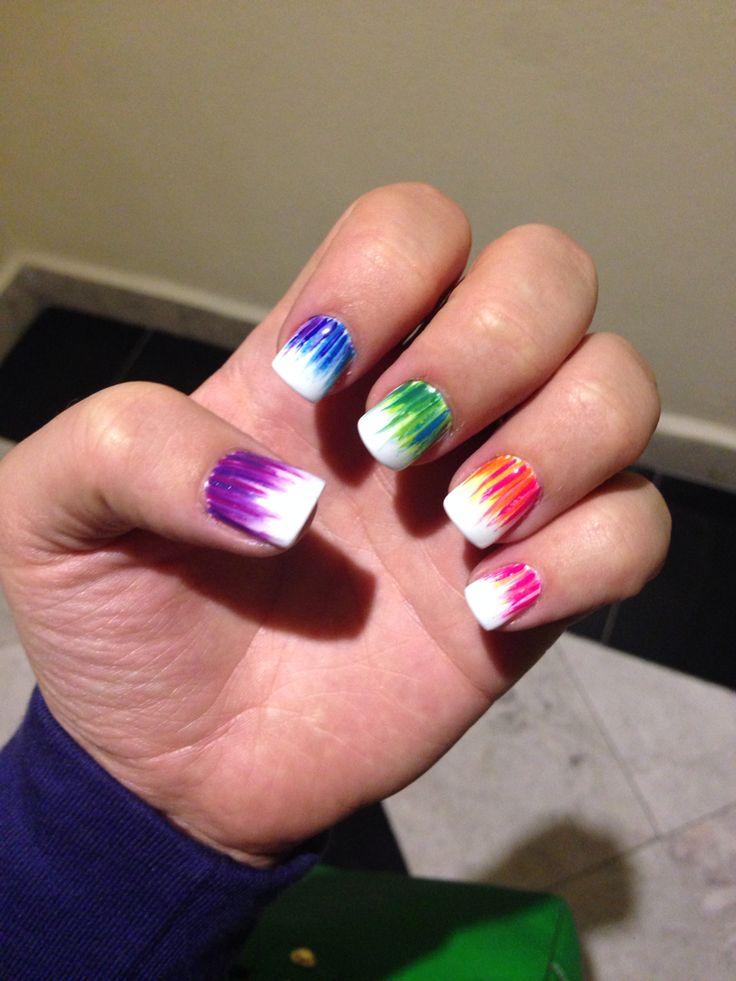 Rainbow nails #nailart