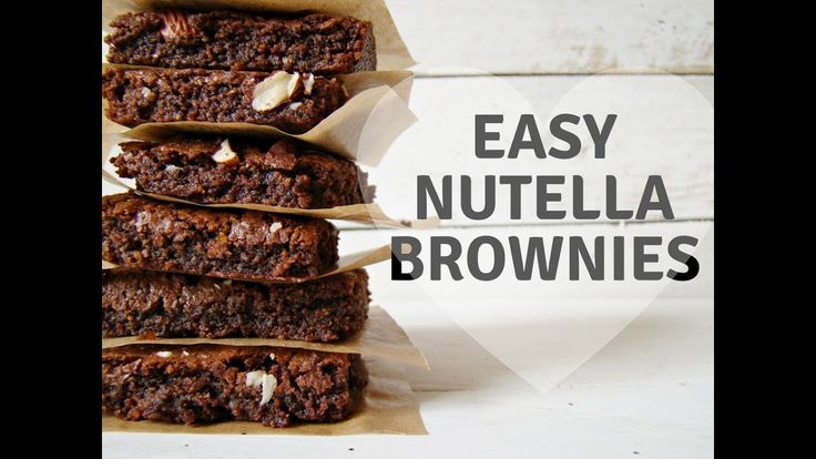 If I love brownies and Nutella, I thought to myself: Why not mix them together to make these Easy Nutella Brownies? So I did. :)